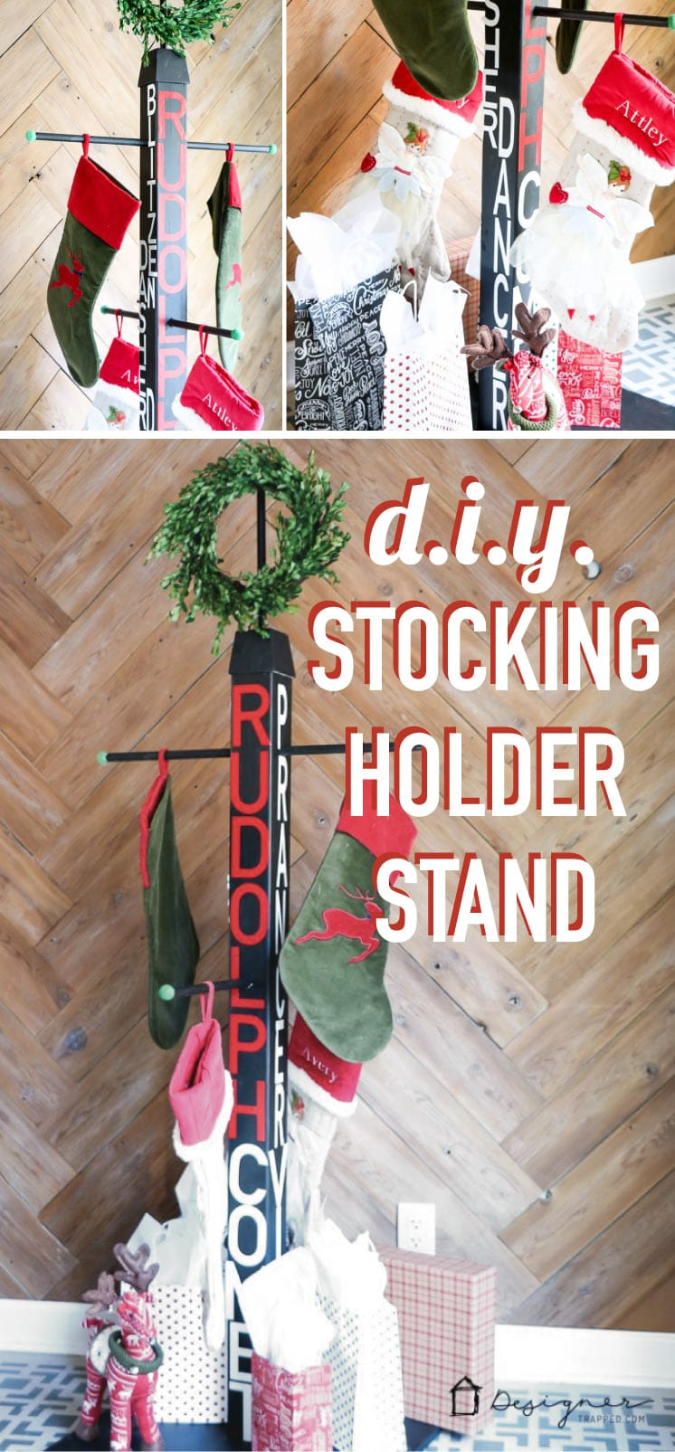 DIY Stocking Holder Stand: No Mantel? No Problem ...