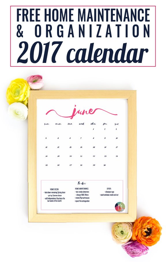 Calendar For Home Organization : Free printable calendar with tips designertrapped