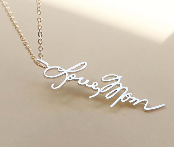 cursive necklace