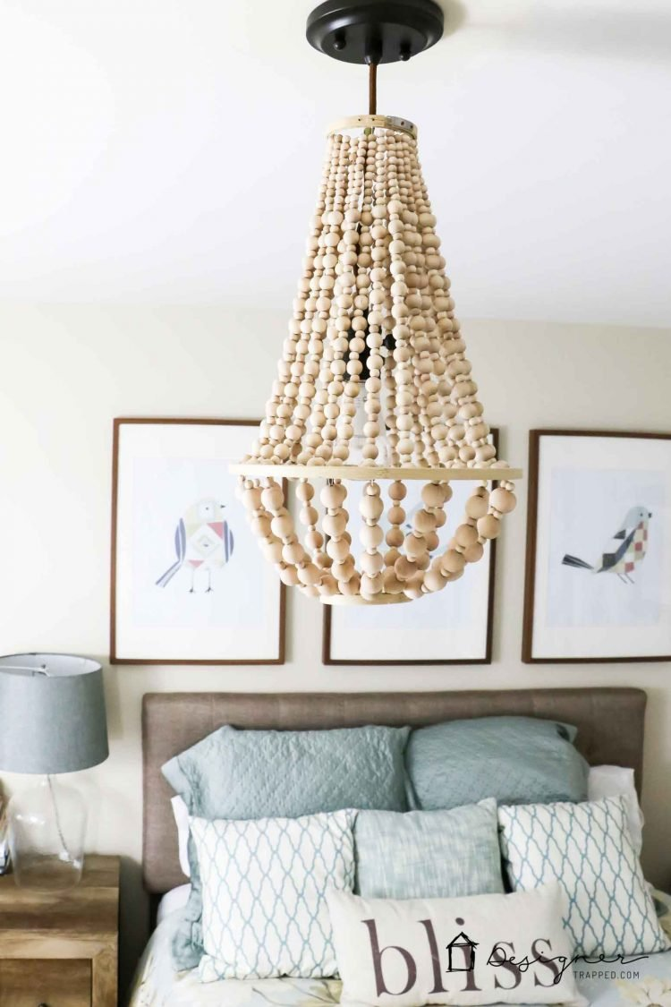 Diy Chandelier From Wood Beads Kaleidoscope Living