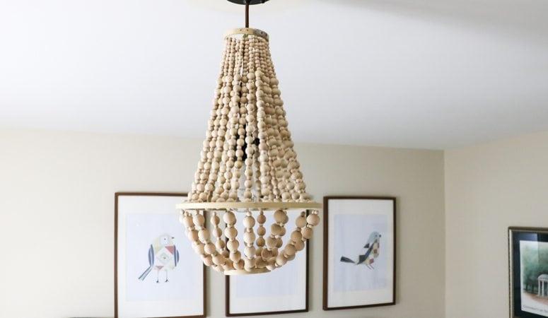 DIY Stacked Wood Lamp | Anthropologie Inspired