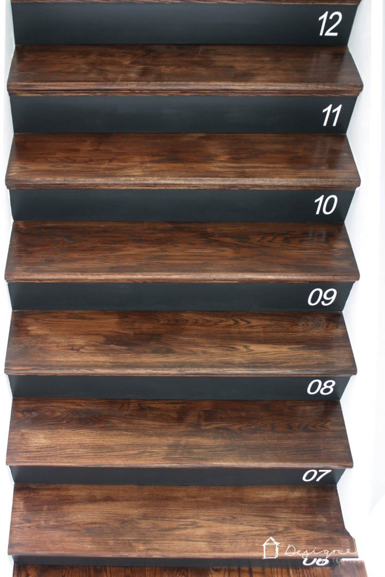 Wood stairs are beautiful, but they can be a bit boring, too! Learn how to embellish your stair risers with these tips. Plus, there is a full tutorial on how to number your stairs for added interest and it's so easy!