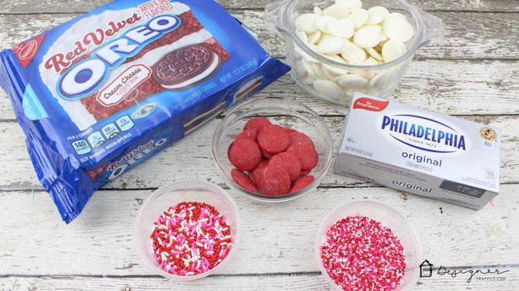 YUM! A Red Velvet twist on classic Oreo cookie balls. So excited to try this recipe for Oreo truffles this Valentine's Day! I love red velvet desserts and Oreo cookie balls. Win, win.