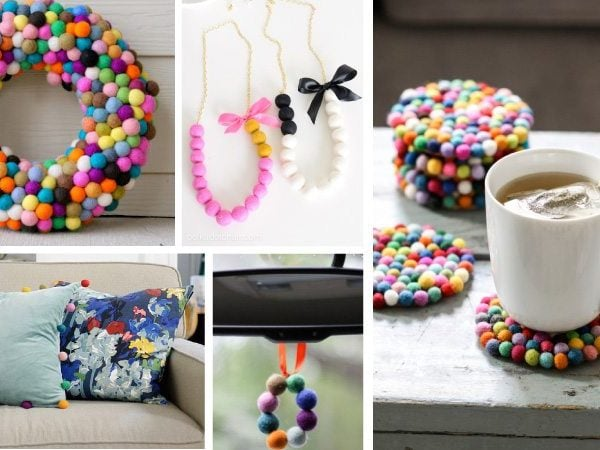 10 Colorful DIY Projects with Felt Balls