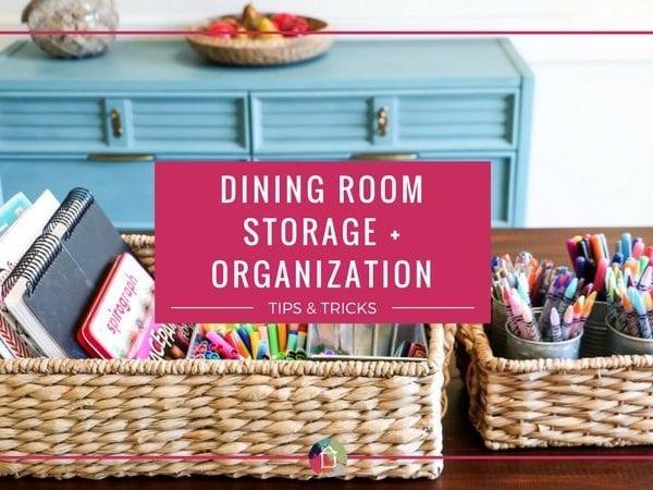 Dining Room Storage and Organization
