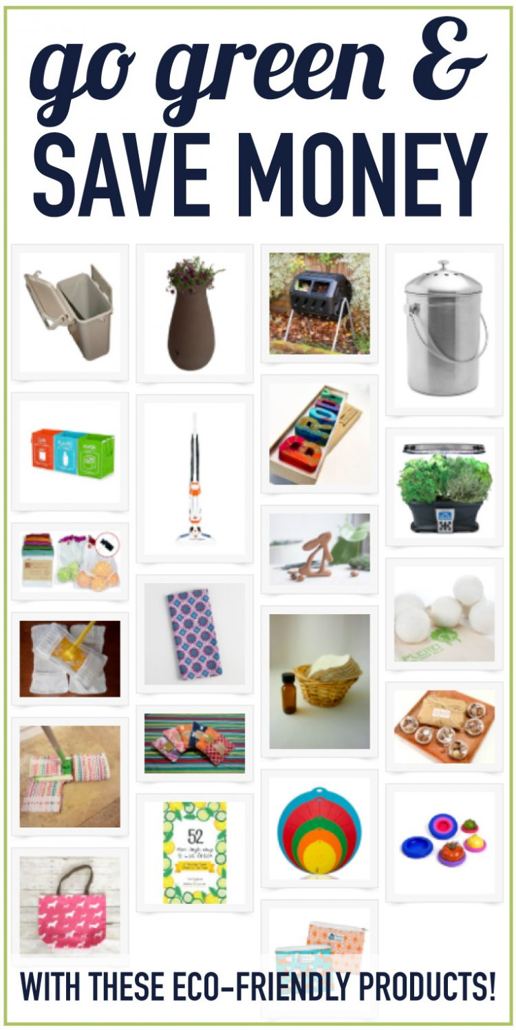 Go green at home! Adding just a few eco products to your home can go a long way in being more environmentally friendly. These eco products are pretty and practical! Click to check out all the ideas!