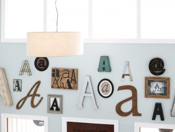Typography Art Gallery Wall: A How To Guide + Sources