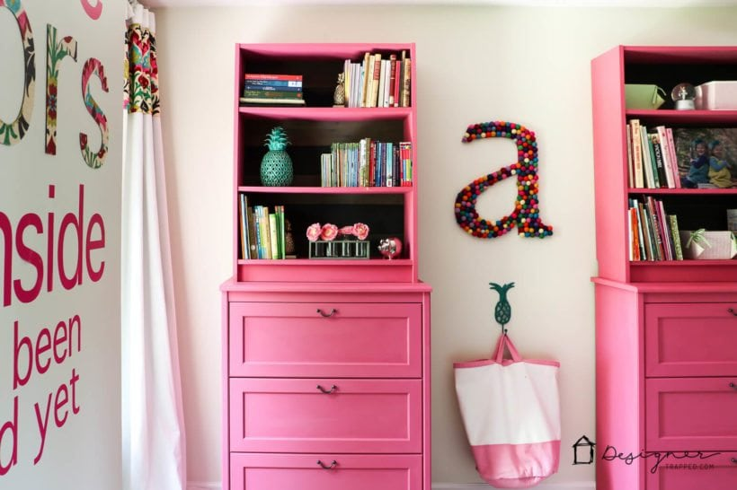 billy book cases in girl room