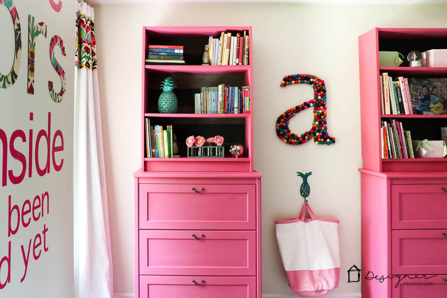 custom pink IKEA girls furniture
