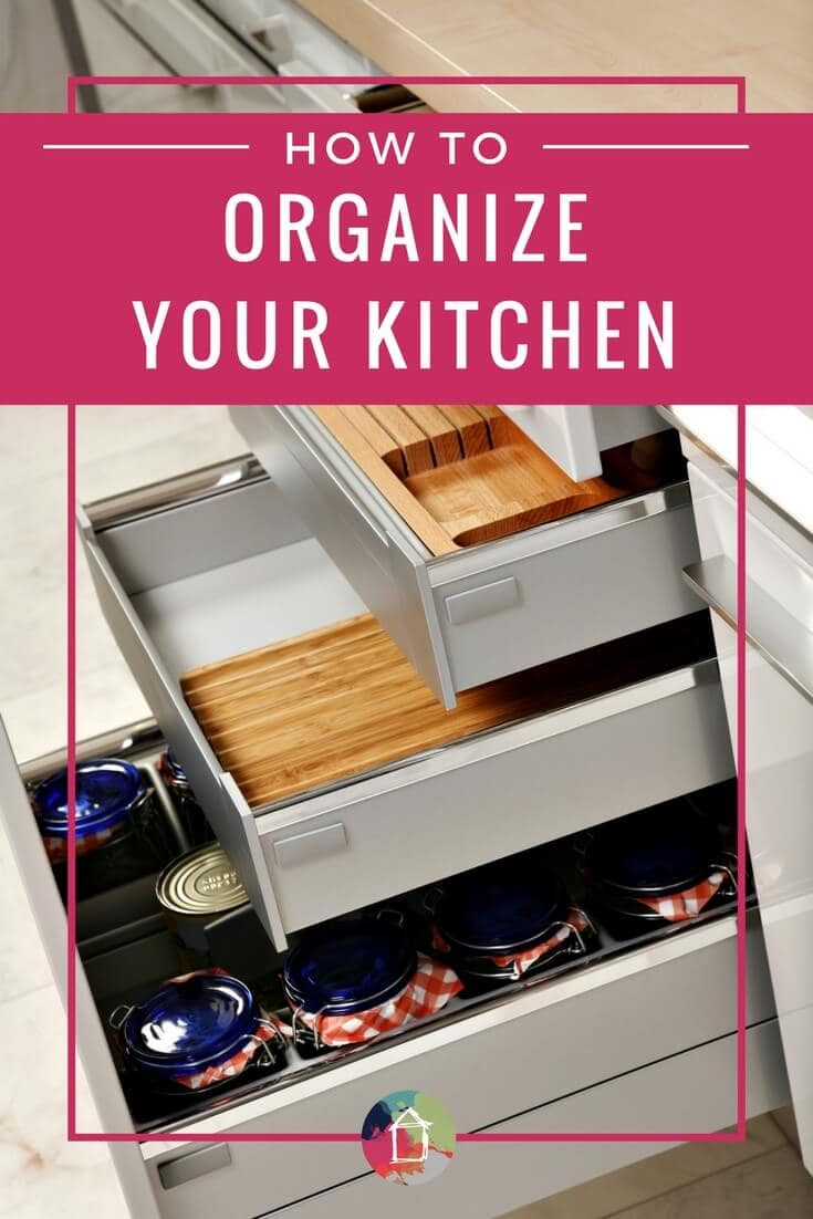 OMG, yes! Love these kitchen organization tips for your kitchen cabinets and drawers. So practical and easy to implement for people with ordinary kitchens (not custom built cabinets that have a place for everything, lol)!