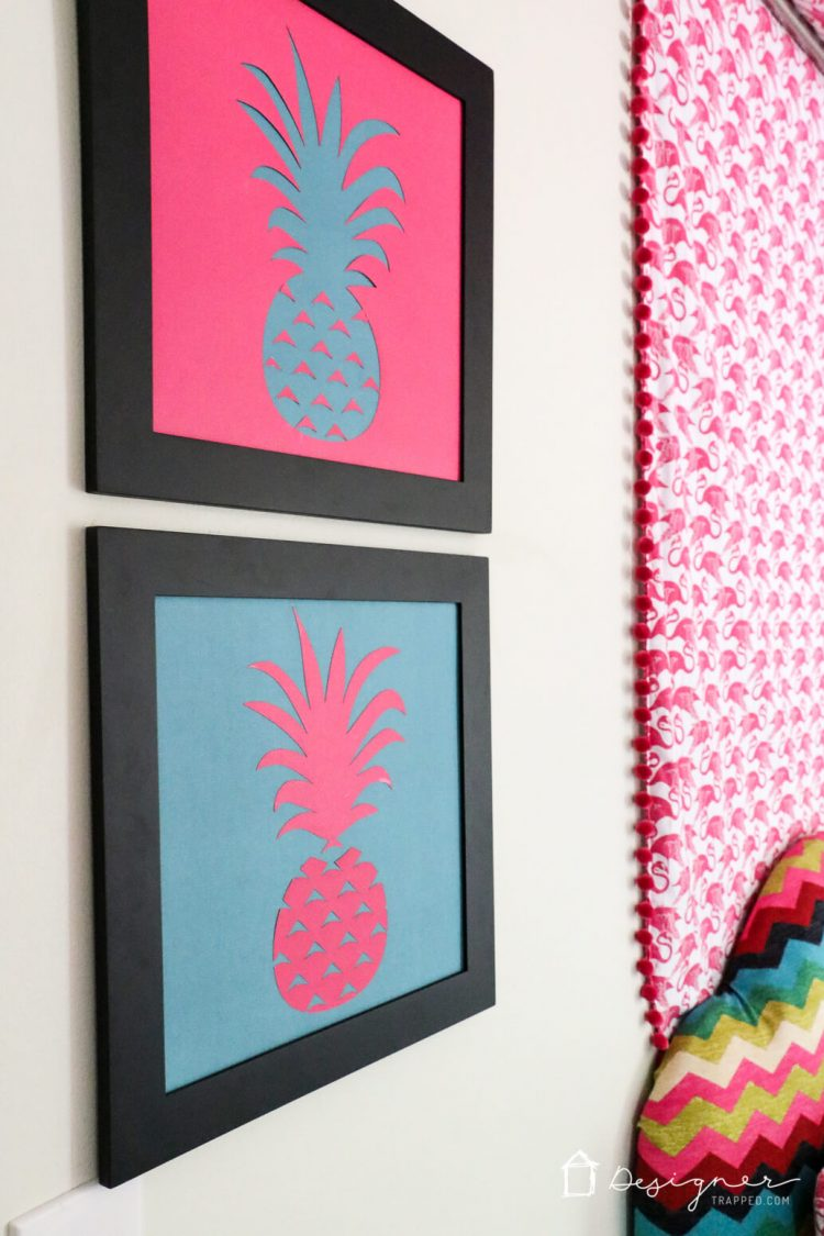 OMG, love this DIY pineapple art so much. And it actually looks super easy to make!