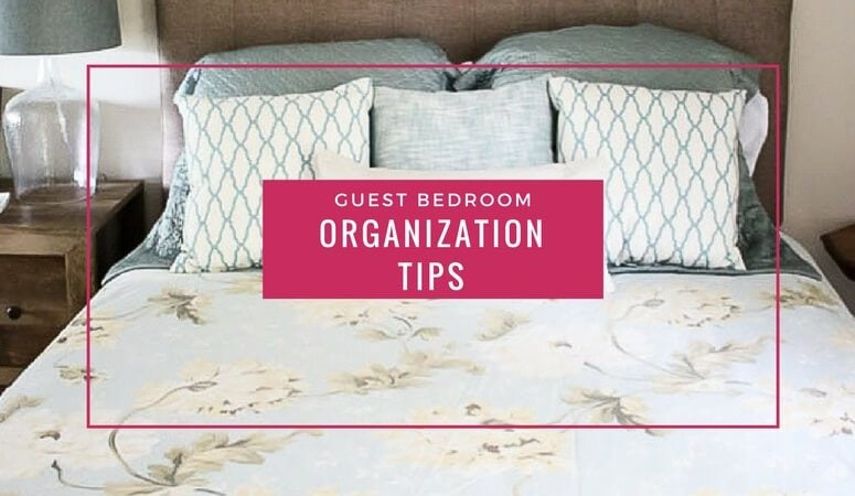 So many guest rooms need to serve multiple purposes. Love these bedroom organization ideas. Such great suggestions for how to make the most of your guest room storage.
