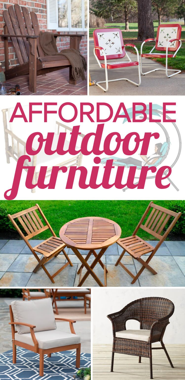 Outdoor furniture can be so expensive, but there is some affordable outdoor  furniture out there - Stylish And Affordable Outdoor Furniture Designertrapped.com