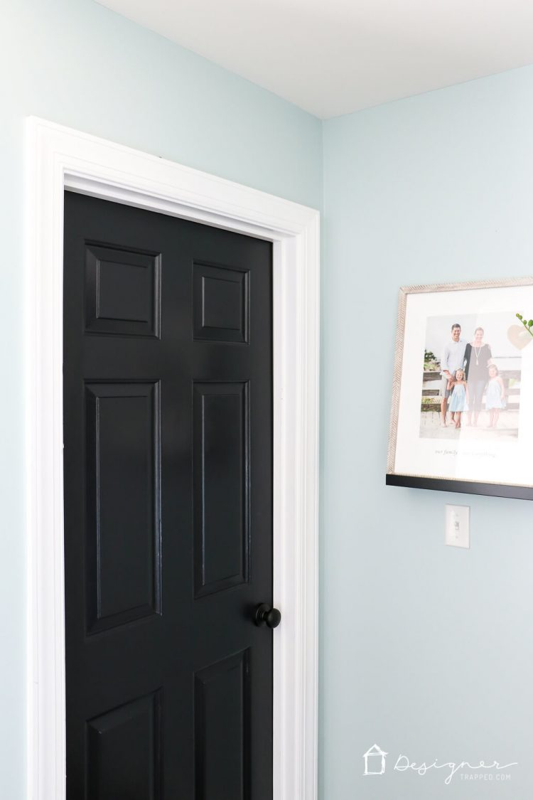 Love the idea of painting interior doors black for an affordable interior update! All you & Painting Interior Doors Black: High Impact Low $ Update | Designer ...