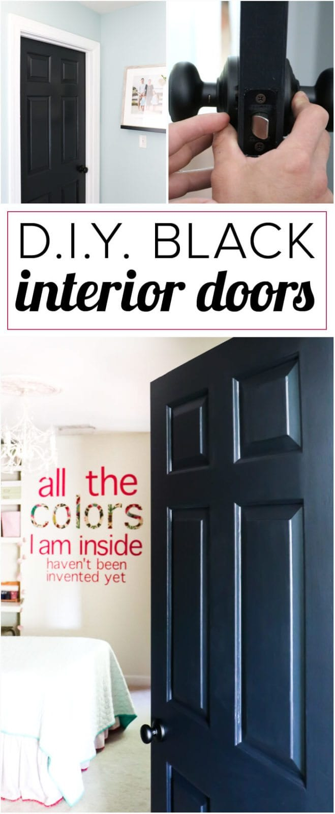 Painting Interior Doors Black High Impact Low Update