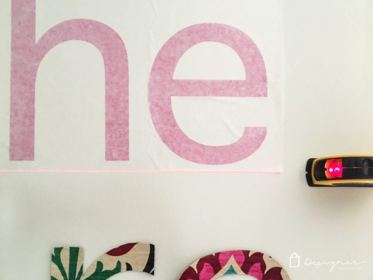 OMG, these custom wall decals are amazing! Such a great way to do a large wall quote or vinyl monogram!