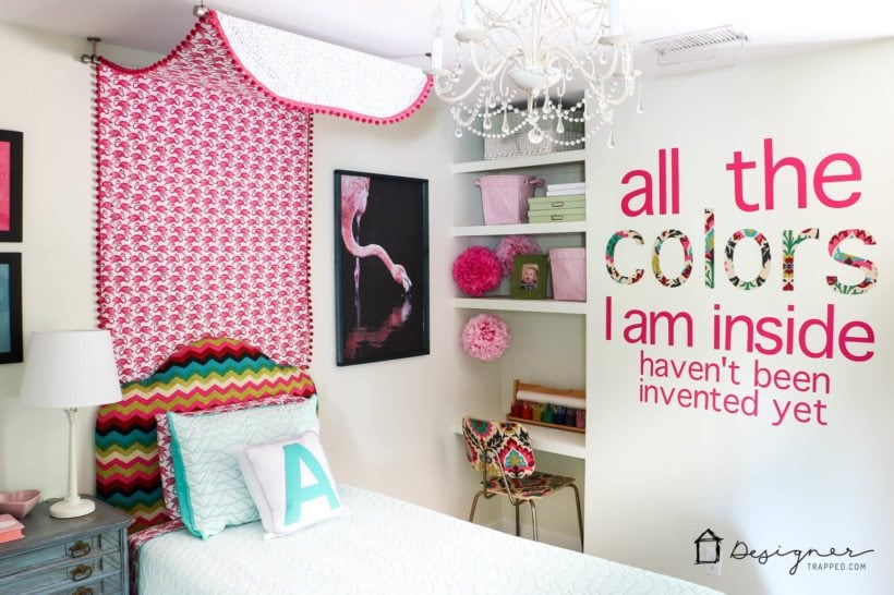 colorful girl bedroom