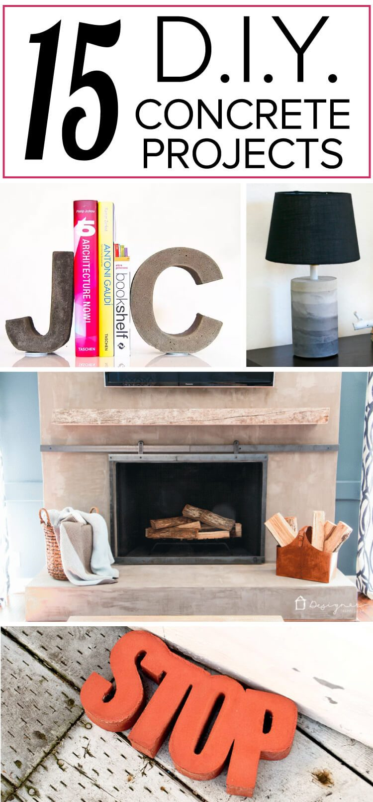 OMG, these DIY concrete projects are mind-blowing! I knew you could make DIY concrete countertops, but I had no idea how many other things you could create with concrete. I can't wait to try number 3 and number 7!