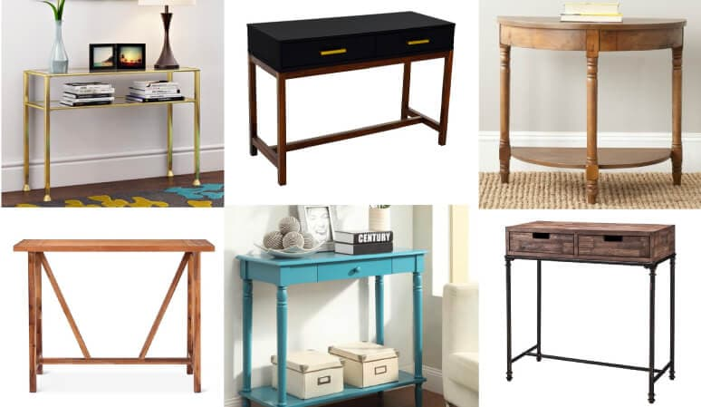 Console tables are so versatile and can be used so many different ways in your home. This list of affordable console, sofa and entry tables is full of so many great and budget-friendly table options. I am amazed that most of the tables on this list are under $150 and some are under $100!