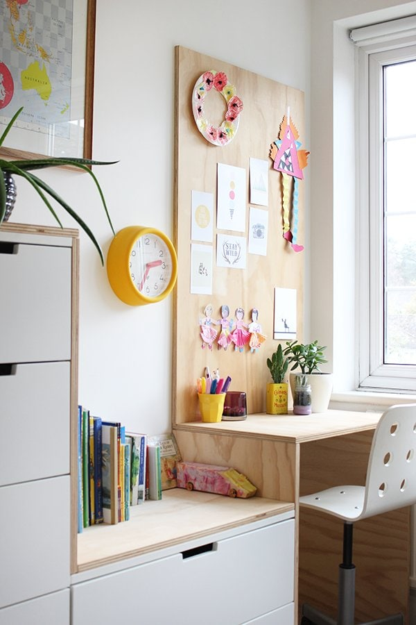 plywood ikea desk