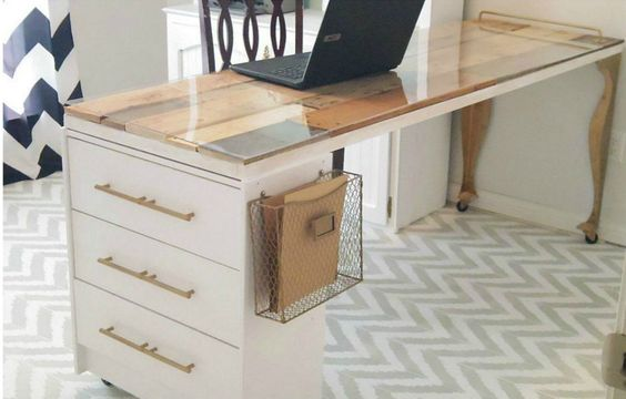 simple IKEA desk hack