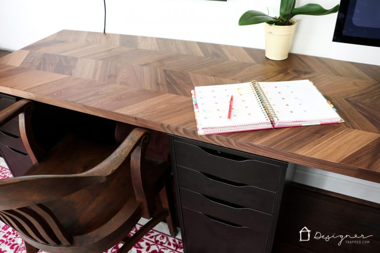 Easy and Gorgeous Ikea Desk Hack | Designer Trapped