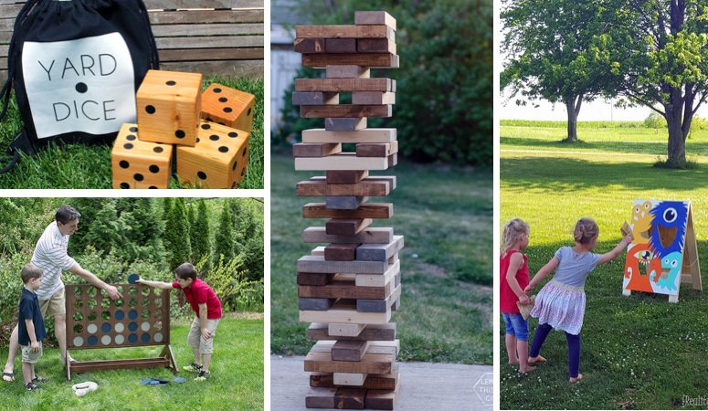 These DIY outside games, activities and play equipment are amazing! So many ideas for outdoor fun with your kids this summer. I'm totally making #3 and 8 ASAP.