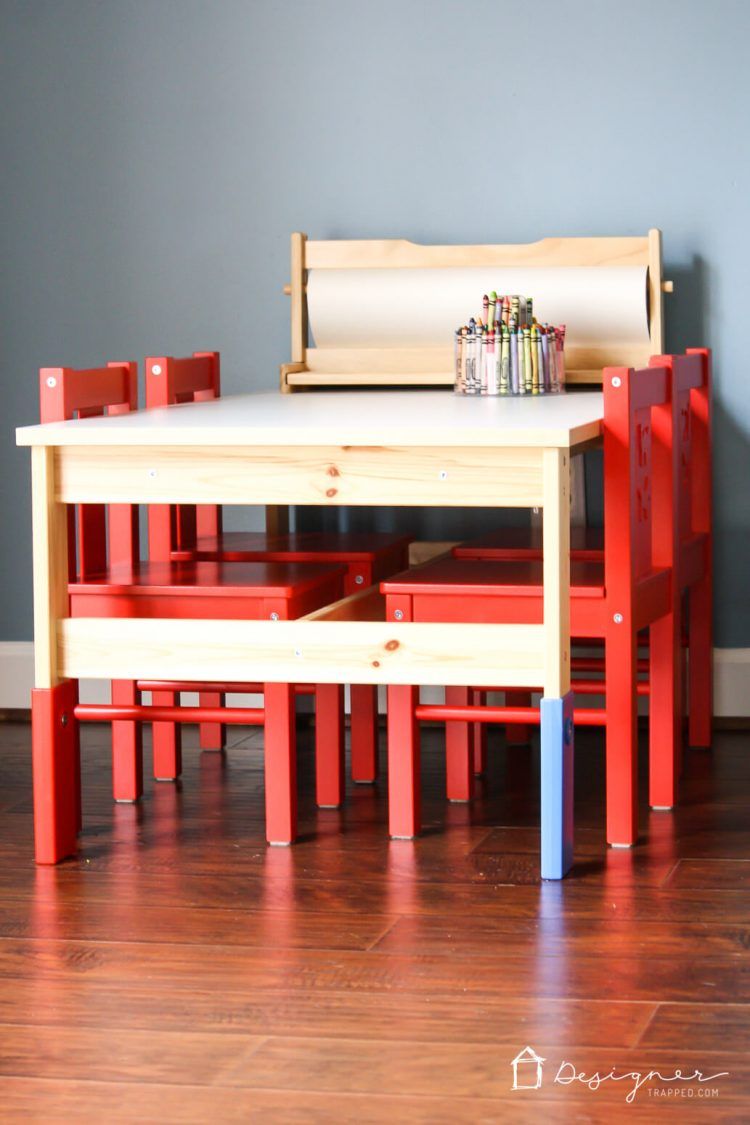 Ikea kids 39 table and chairs makeover kaleidoscope living for Tutorial ikea home planner