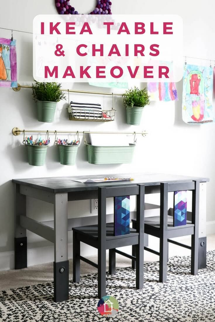 This cheap Ikea Kids' Table Looks Like It Came From a High-End Boutique. An Ikea kid's table and chairs can look super stylish with just a little bit of work. This Ikea kid's table and chairs makeover is so easy and gorgeous! Click for the full tutorial with step-by-step photos.