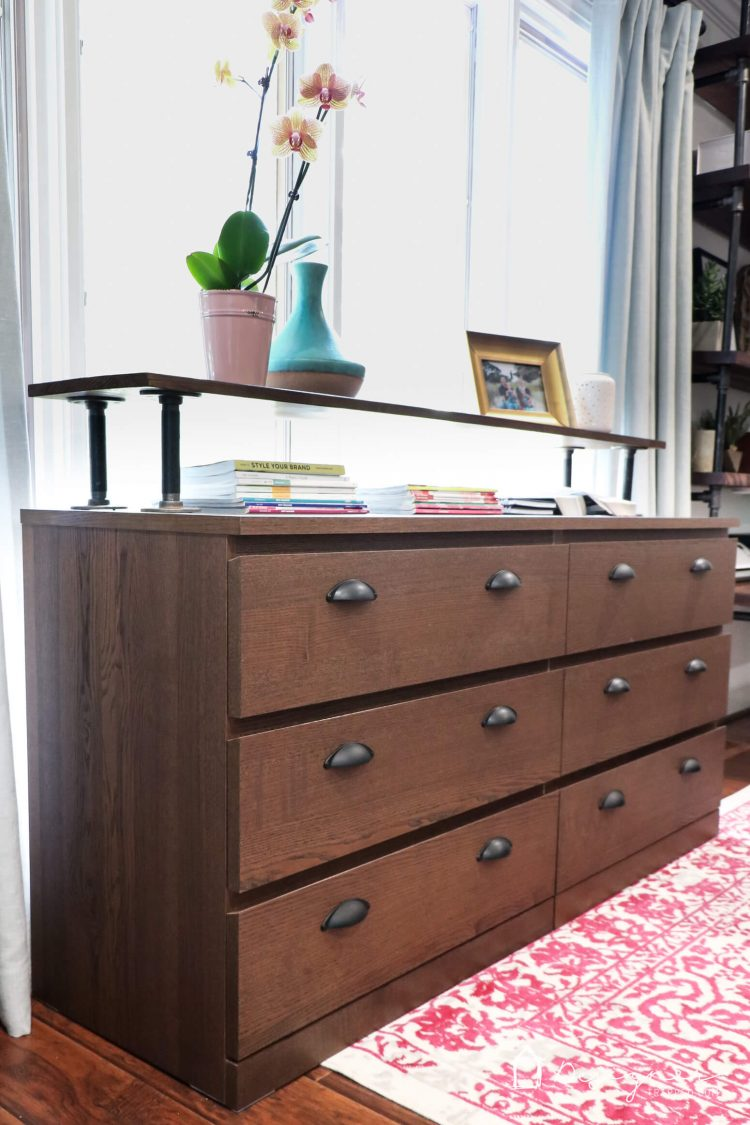 WOW! I can't believe this is an Ikea Malm dresser! What a great Ikea Malm hack. Love the industrial dresser that it turned into. Looks very high-end on a very small budget!