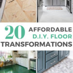 20 affordable DIY floor transformations graphic