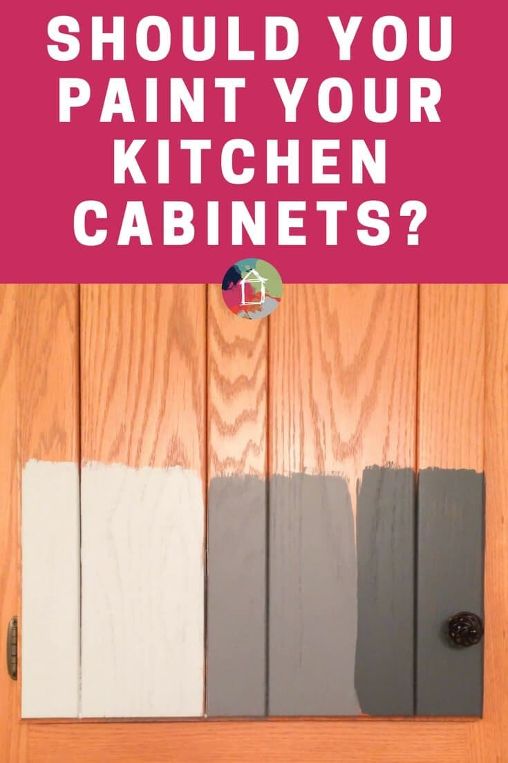 """Are you wondering """"should I paint my kitchen cabinets?"""" Be sure to ask yourself these 9 crucial questions before you make a decision about painting kitchen cabinets!"""