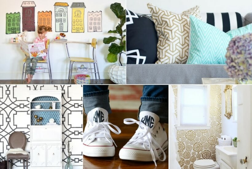 Wondering what you can make with your Cricut cutting machine? This list of DIY Cricut projects will give you tons of inspiring ideas!
