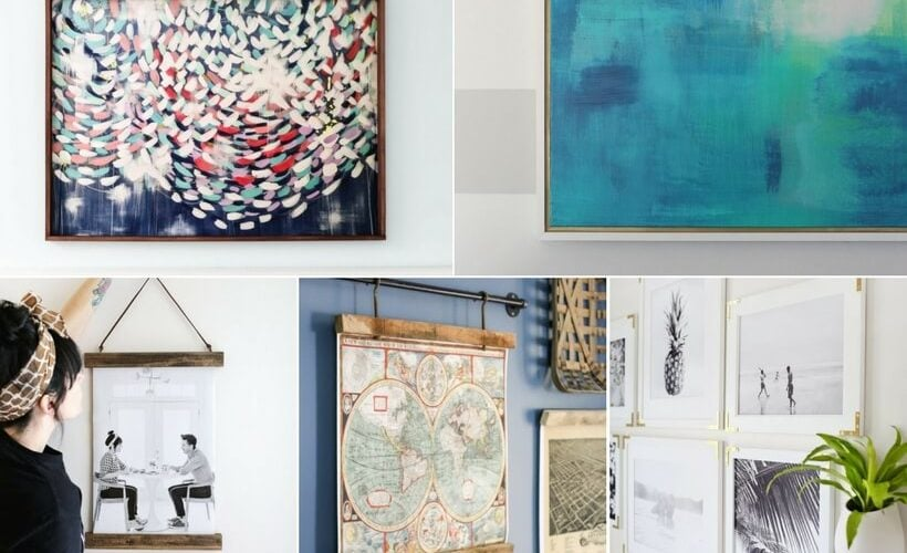 Framing art doesn't have to be expensive! These are the best and easiest tutorials for DIY frames you can find.