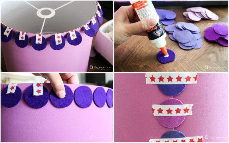 Easy, DIY lampshade. Ombre lampshade tutorial.