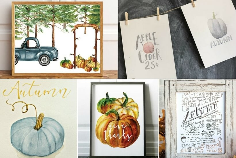 Update your home for fall with these fabulous Fall printables! Most of them are absolutely free!