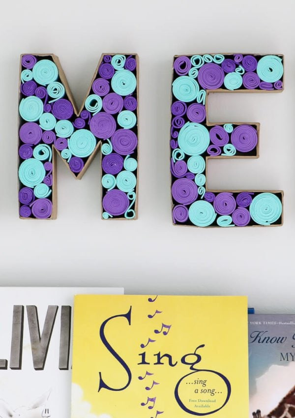 DIY Paper Mache Letters With a Twist