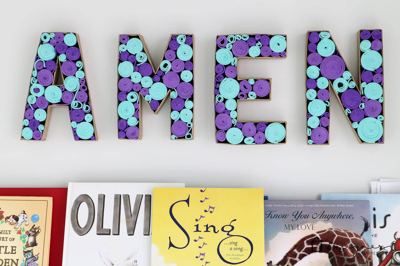 Love these paper mache letters! Awesome DIY wall decor. #walldecor #papermache