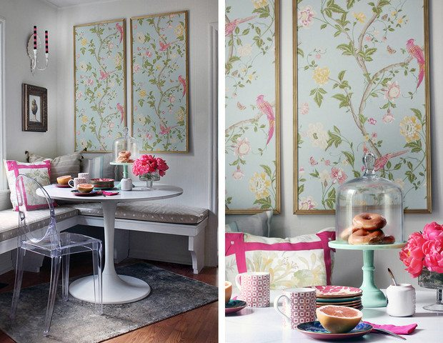 Wallpaper isn't only for walls! These unexpected wallpaper ideas are so inspiring!