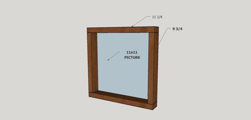 diagram to make large art frames