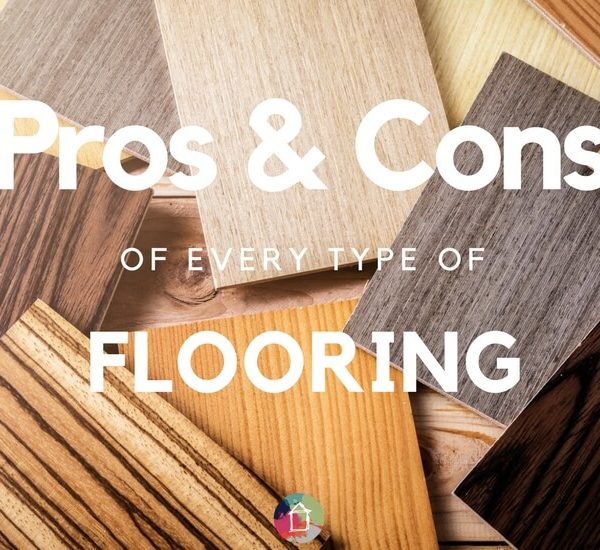 Learn all about the pros and cons of flooring types! From paint, the hardwood to laminate, you have LOTS of options.