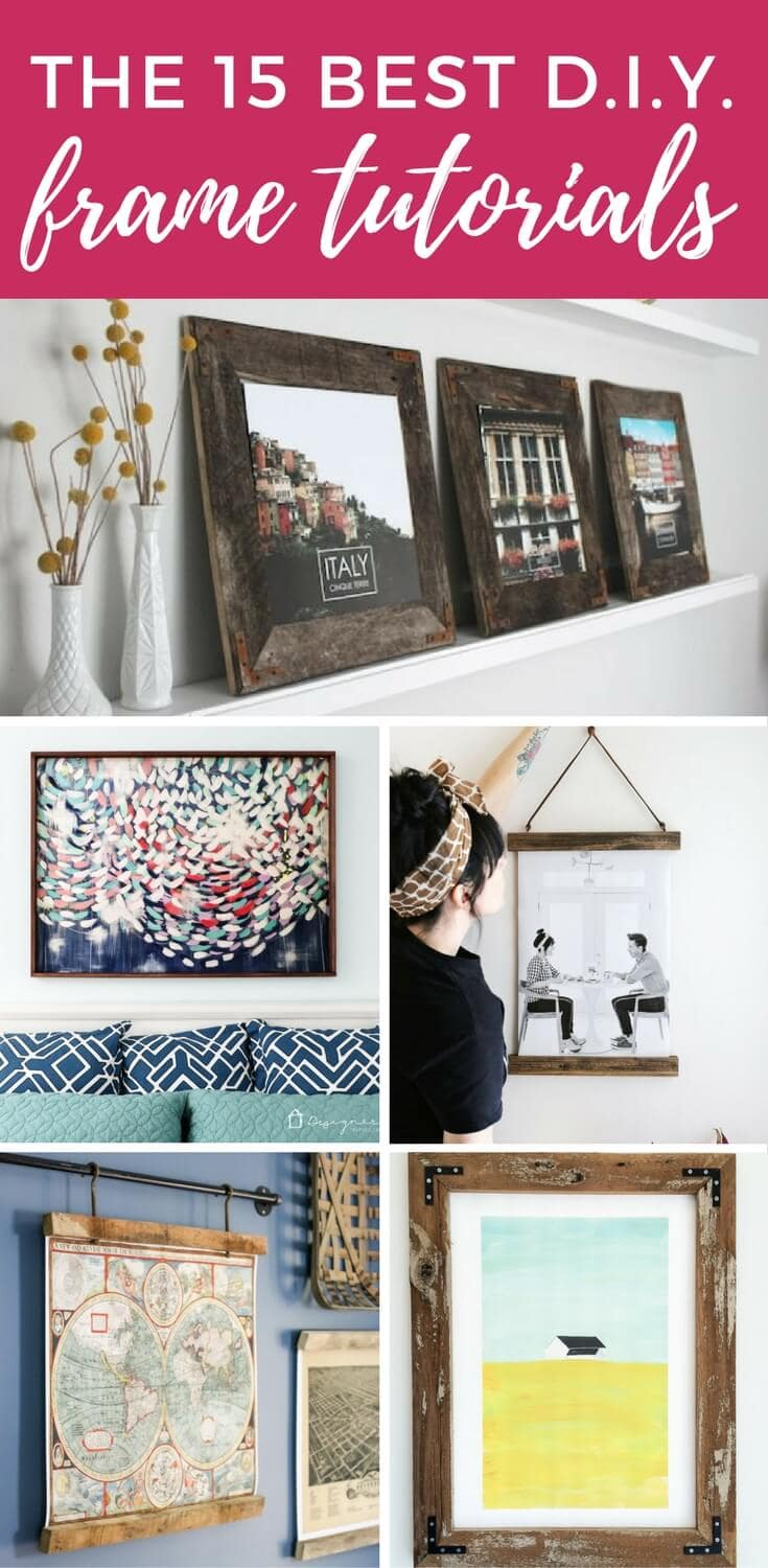Framing art and photos doesn't have to be expensive! These are the best and easiest tutorials for DIY frames you can find.