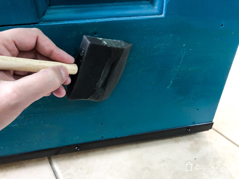 Your kick plate doesn't have to be boring. This easy, DIY kick plate for your door is functional, beautiful and incredibly affordable!