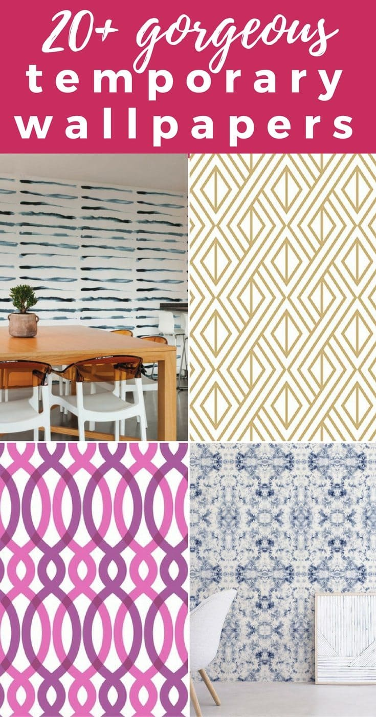 Temporary wallpaper opens a whole new world of design possibilities and there are some incredible removable wallpaper options out there!