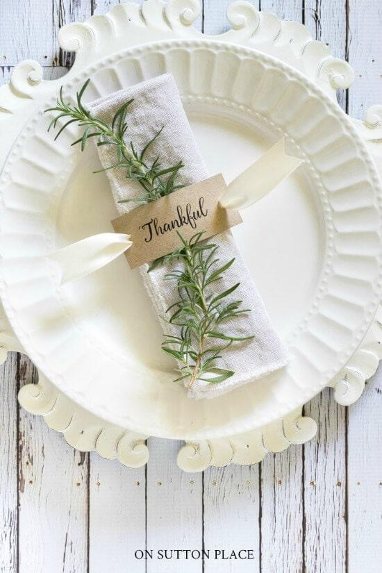 free printable thankful napkin ring