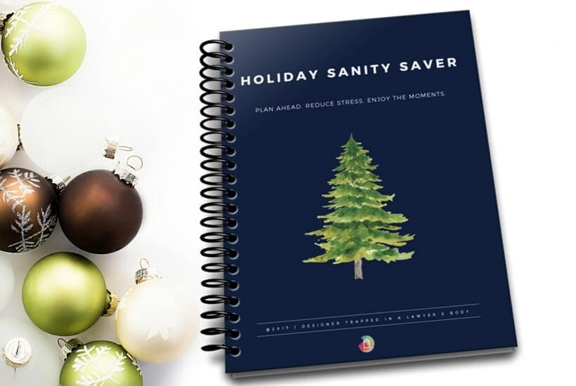 This FREE holiday planner that you can print at home will help you plan ahead and reduce your stress so that you can enjoy the moments with your friends and family!