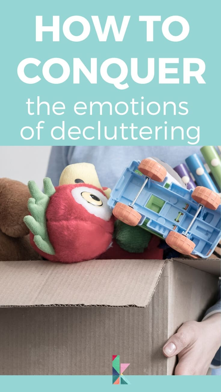 the emotions of decluttering