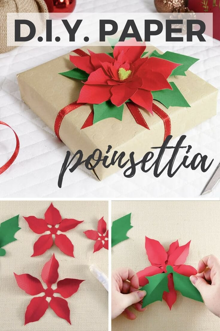 DIY Paper Poinsettia (the Perfect Gift