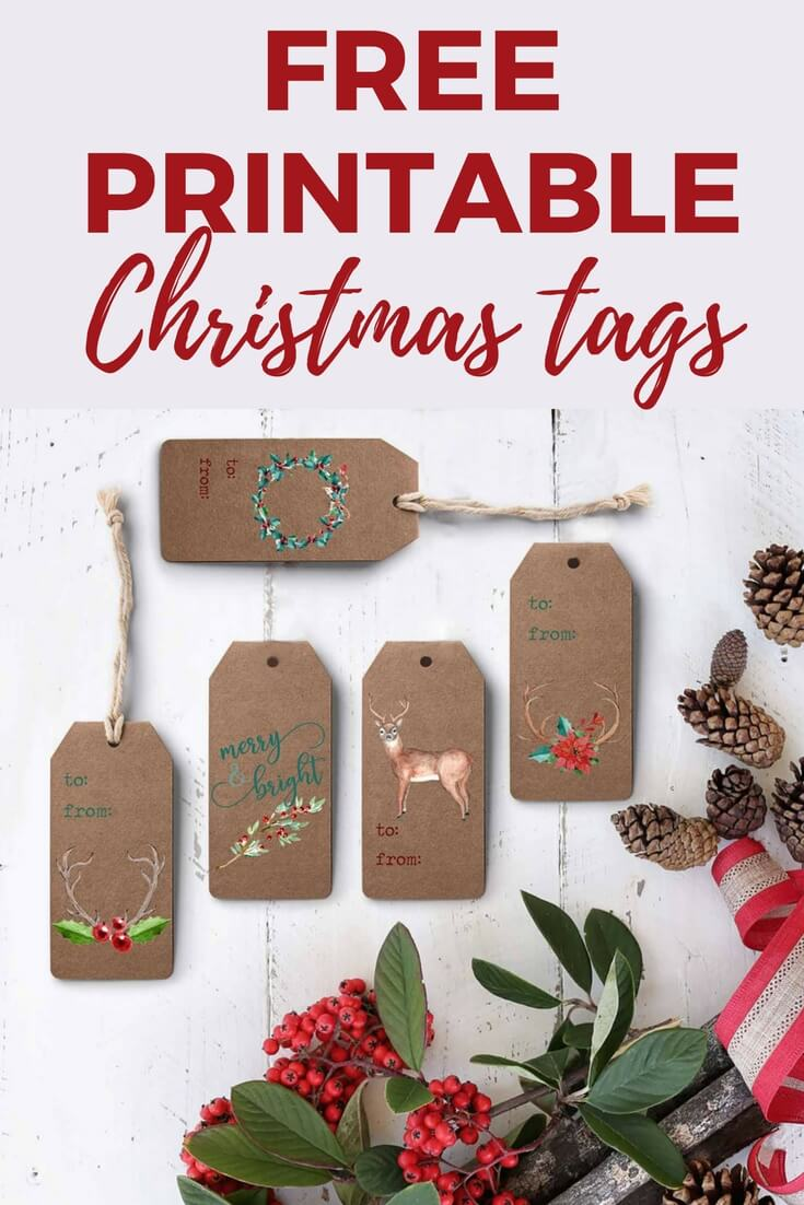 It's just an image of Declarative Gift Tag Printable Free