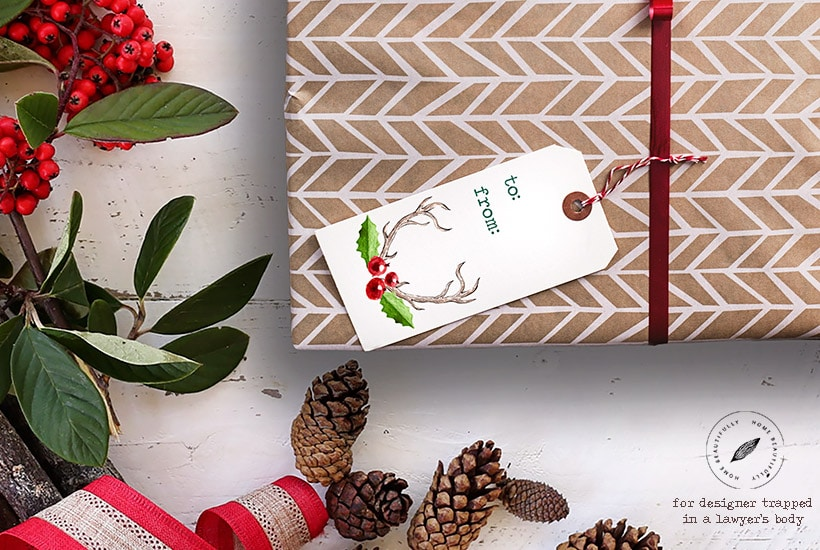 These free printable gift tags are such an easy and fun way to add a beautiful and personal touch to your gift wrapping this year!